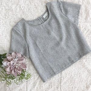 Tops - Grey Crop Top